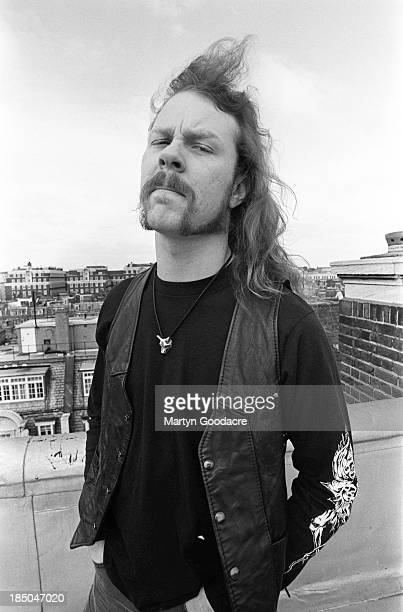 James Hetfield of Metallica portrait London United Kingdom April 1992