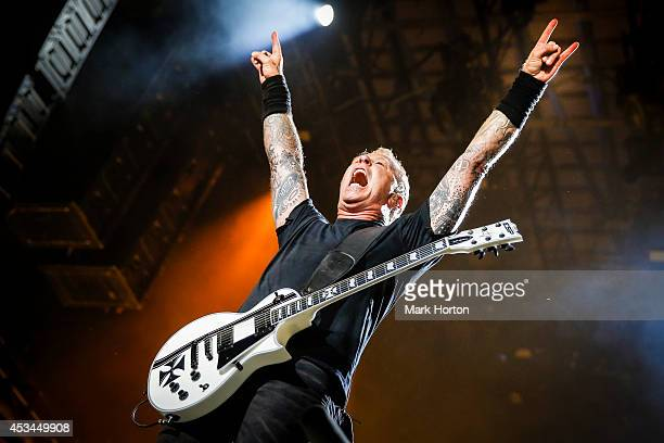 James Hetfield performs with Metallica on Day 1 of the Heavy Montreal Festival on August 9 2014 in Montreal Canada