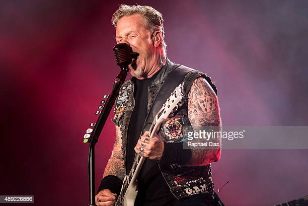 James Hetfiled from Metallica performs at 2015 Rock in Rio on September 19 2015 in Rio de Janeiro Brazil