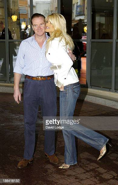 James Hewitt and Victoria Silvstedt during ITV1's Celebrity Wrestling Press Launch at Soho Hotel in London Great Britain