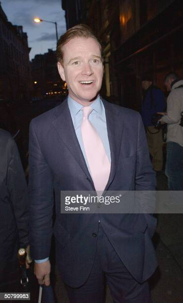 James Hewitt attends Attitude Magazine's 10th Birthday Party at The Atlantic Bar Grill on May 4 2004 in London