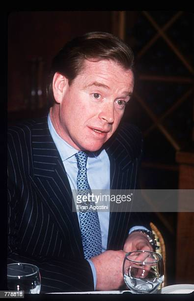 James Hewitt presents his book 'Love and War' during an interview with Daphne Barak October 25 1999 in New York City Hewitt former lover of Princess...