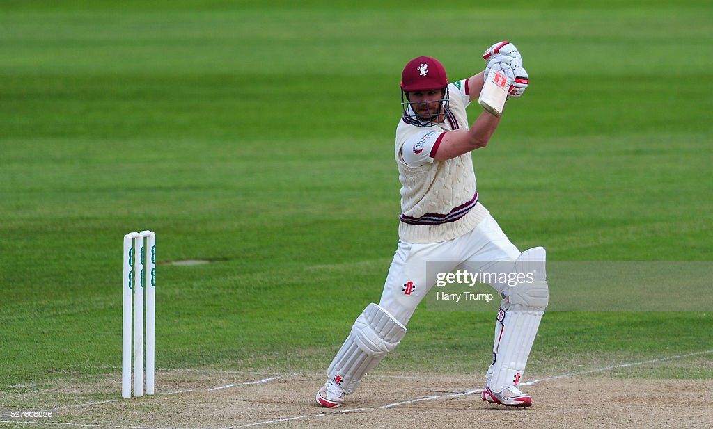 James Hildreth of Somerset bats during Day Three of the Specsavers County Championship Division One match between Someret and Lancashire at the County Ground on May 03, 2016 in Somerset, United Kingdom.