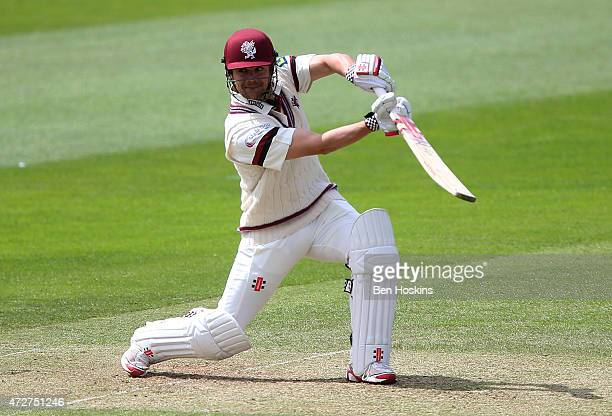 James Hildreth of Somerset in action during a tour match between Somerset and New Zealand at The County Ground on May 9 2015 in Taunton England
