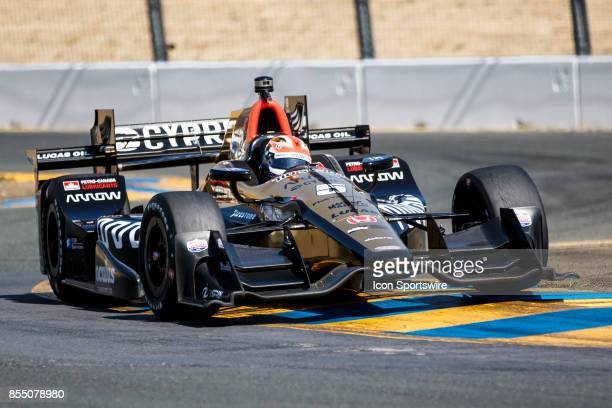 James Hinchcliffe in the Honda powered Arrow Schmidt Peterson Motorsports IR12 at the bus stop during warmup for the Verizon Indycar Series GoPro...