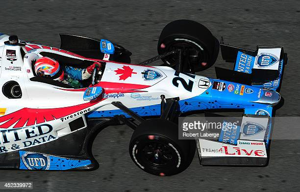 James Hinchcliffe of Canada driver of the Andretti Autosport Dallara Honda during practice for the Verizon IndyCar Series Honda Indy Toronto on the...