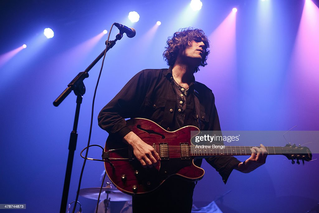 James Hoare of The Proper Ornaments perform on stage at Ritz Manchester on March 14, 2014 in Manchester, United Kingdom.