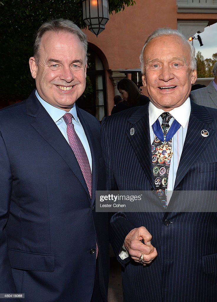 <a gi-track='captionPersonalityLinkClicked' href=/galleries/search?phrase=James+Hogan&family=editorial&specificpeople=690843 ng-click='$event.stopPropagation()'>James Hogan</a>, President and Chief Executive of Etihad Airways (L) and Astronaut <a gi-track='captionPersonalityLinkClicked' href=/galleries/search?phrase=Buzz+Aldrin&family=editorial&specificpeople=90480 ng-click='$event.stopPropagation()'>Buzz Aldrin</a> attend a gala to celebrate Etihad Airways' world-class, non-stop service between Los Angeles and Abu Dhabi at the iconic Beverly House on June 10, 2014 in Beverly Hills, California.