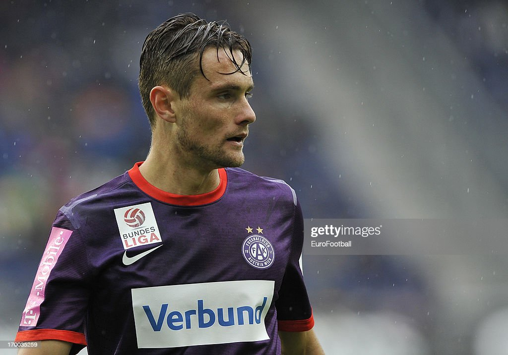 <a gi-track='captionPersonalityLinkClicked' href=/galleries/search?phrase=James+Holland&family=editorial&specificpeople=1647686 ng-click='$event.stopPropagation()'>James Holland</a> of FK Austria Wien in action during the Austrian Bundesliga match between FC Salzburg and FK Austria Wien held on May 26, 2013 at the Red Bull Arena in Salzburg, Austria.