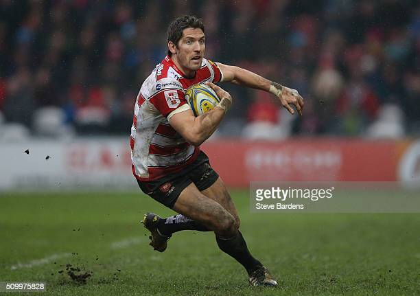 James Hook of Gloucester Rugby in action during the Aviva Premiership match between Gloucester Rugby and Harlequins at Kingsholm Stadium on February...