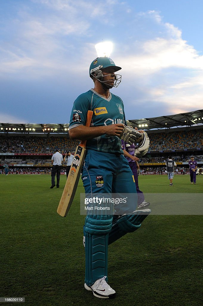 <a gi-track='captionPersonalityLinkClicked' href=/galleries/search?phrase=James+Hopes&family=editorial&specificpeople=208940 ng-click='$event.stopPropagation()'>James Hopes</a> leaves the field during the Big Bash League match between the Brisbane Heat and the Hobart Hurricanes at The Gabba on December 9, 2012 in Brisbane, Australia.