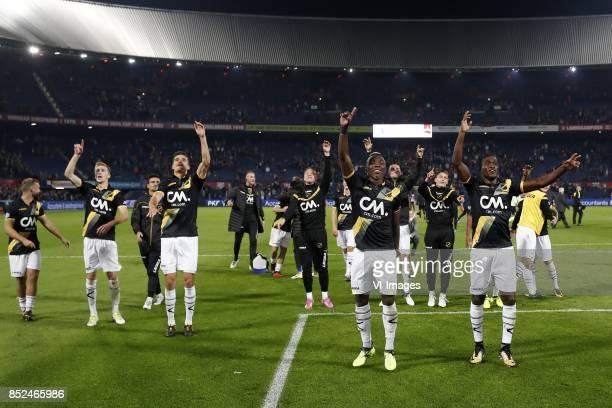 James Horsfield of NAC Breda Arno Verschueren of NAC Breda Gianluca Nijholt of NAC Breda Menno Koch of NAC Breda goalkeeper Andries Noppert of NAC...