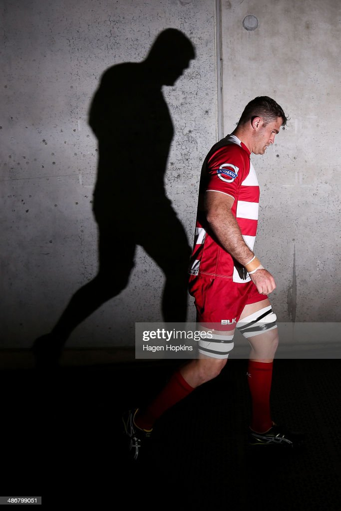 <a gi-track='captionPersonalityLinkClicked' href=/galleries/search?phrase=James+Horwill&family=editorial&specificpeople=637477 ng-click='$event.stopPropagation()'>James Horwill</a> of the Reds takes the field to warm up before his 100th game during the round 11 Super Rugby match between the Hurricanes and the Reds at Westpac Stadium on April 26, 2014 in Wellington, New Zealand.