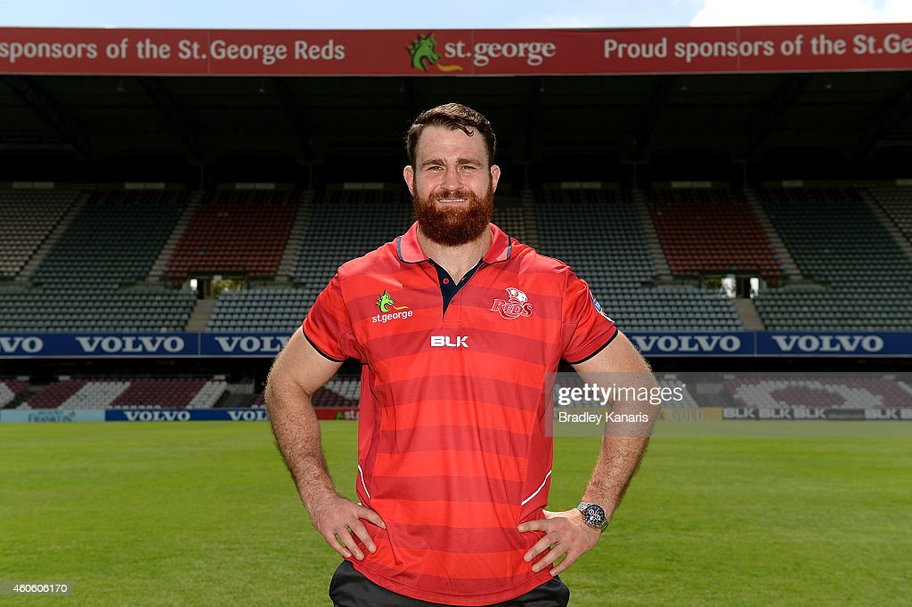 <a gi-track='captionPersonalityLinkClicked' href=/galleries/search?phrase=James+Horwill&family=editorial&specificpeople=637477 ng-click='$event.stopPropagation()'>James Horwill</a> poses for a photo after a Queensland Reds Super Rugby media announcement announcing that he has signed a three year post 2015 Rugby World Cup deal with English Rugby club Harlequins at Ballymore Stadium on December 18, 2014 in Brisbane, Australia.