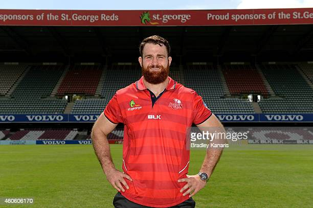 James Horwill poses for a photo after a Queensland Reds Super Rugby media announcement announcing that he has signed a three year post 2015 Rugby...
