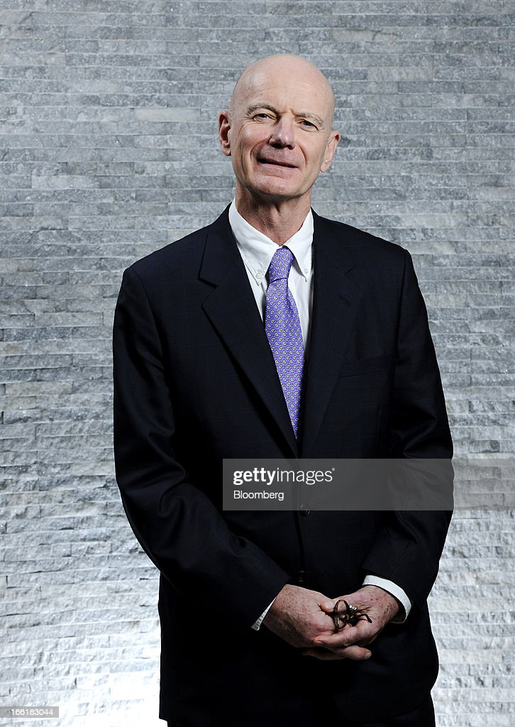 James Hughes-Hallett, chairman of John Swire & Sons Ltd., poses for a portrait in Singapore, on Tuesday, April 9, 2013. Hong Kong home prices, the highest among major global cities, are close to peaking after more than doubling since early 2009, Hughes-Hallett said. Photographer: Munshi Ahmed/Bloomberg via Getty Images