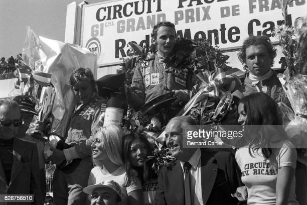 James Hunt Niki Lauda Jochen Mass Grand Prix of France Paul Ricard 04 July 1975