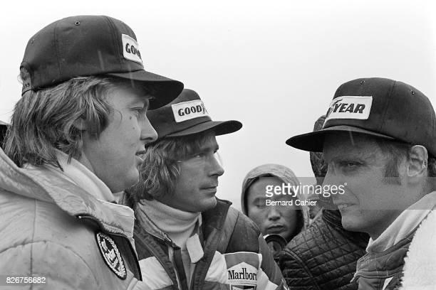 James Hunt Niki Lauda Ronnie Peterson Grand Prix of Japan Fuji Speedway 24 October 1976