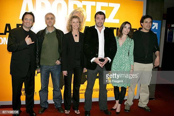 James Huth Alexandra Lamy Jean Dujardin Elodie Bouchez and Bruno Salomone at the premiere of 'Brice de Nice' in Paris