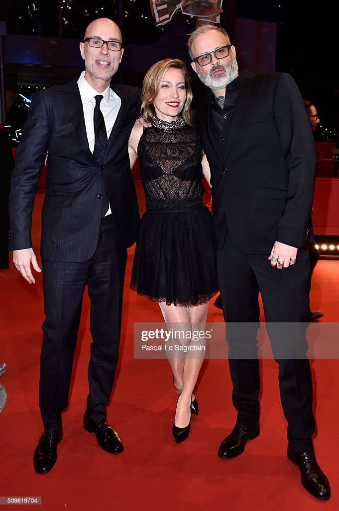 James Hyndman, Dounia Sichov and Denis Cote attend the 'Boris without Beatrice' (Boris sans Beatrice) premiere during the 66th Berlinale International Film Festival Berlin at Berlinale Palace on February 12, 2016 in Berlin, Germany.