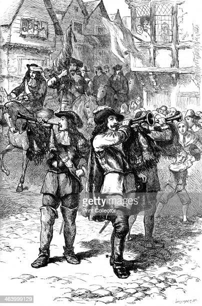James II proclaimed at Boston 1685 James II succeeded Charles II as King of England Scotland and Ireland in 1685 He was deposed by William of Orange...