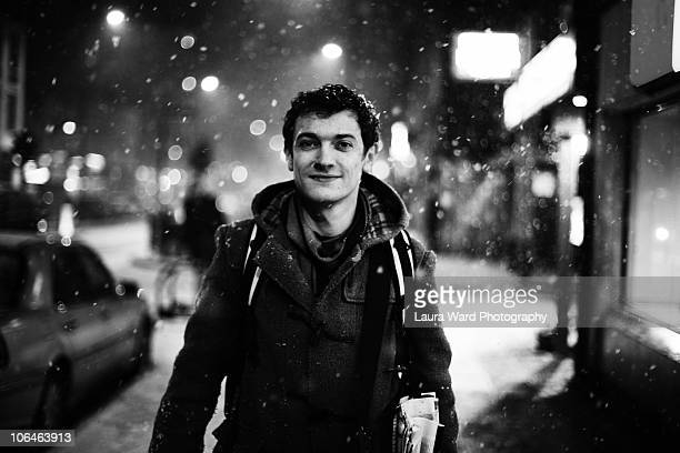 James in the snow