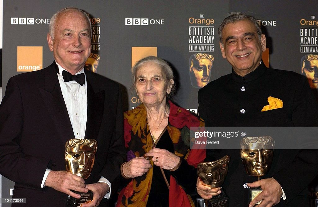 James Ivory & Ismail Merchant, The Orange British Academy Film Awards (bafta) 2002, At The Odeon, Leicester Square, London