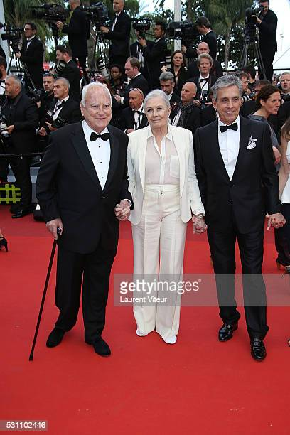 James Ivory Vanessa Redgrave and Charles S Cohen attend the 'Money Monster' premiere during the 69th annual Cannes Film Festival at the Palais des...