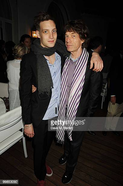 James Jagger and Mick Jagger attend Finch's Quarterly Cannes Dinner 2010 at the Hotel du Cap as part of the 63rd Cannes Film Festival on May 17 2010...
