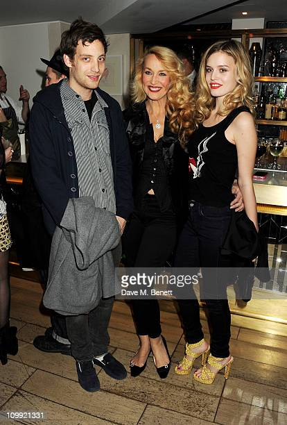 James Jagger Jerry Hall and Georgia May Jagger attend a dinner celebrating the launch of the Hudson by Georgia May Jagger Collection at The Club at...