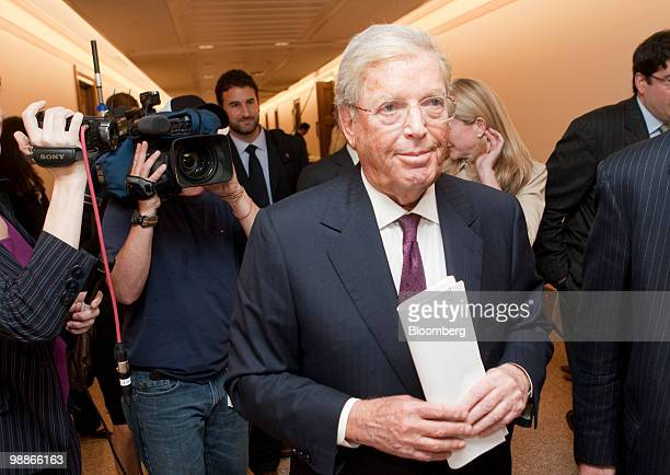 James 'Jimmy' Cayne former chairman and chief executive officer of Bear Stearns Cos leaves after a Financial Crisis Inquiry Commission hearing on...