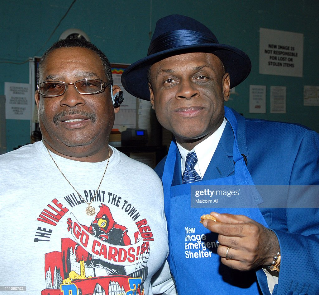 James Johnson and Michael Colyar during New Image Emergency Shelter for the Homeless Honors Comedian Michael Colyar and Councilwoman Jan Perry April...