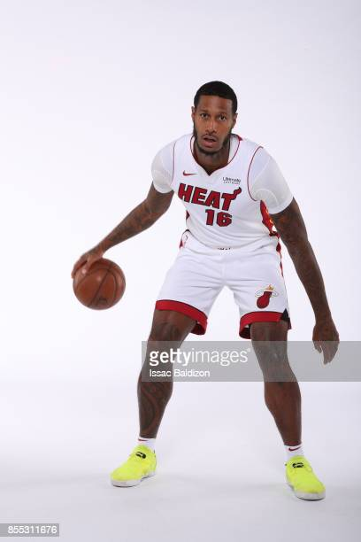 James Johnson of the Miami Heat poses for a portrait on September 25 2017 at American Airlines Arena in Miami Florida NOTE TO USER User expressly...
