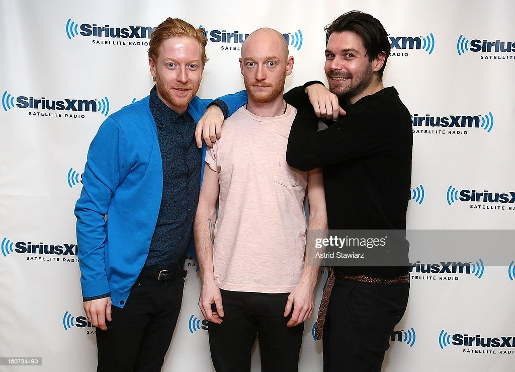James Johnston, Ben Johnston and <a gi-track='captionPersonalityLinkClicked' href=/galleries/search?phrase=Simon+Neil&family=editorial&specificpeople=714520 ng-click='$event.stopPropagation()'>Simon Neil</a> of the band Biffy Clyro perform on Alt Nation at SiriusXM Studios on February 4, 2013 in New York City.