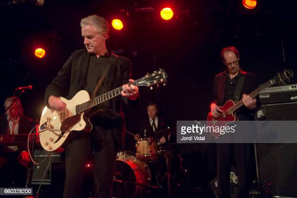 James Johnston Mick Harvey Toby Dammit and Yoyo Rohm perform on stage at Sala Apolo on March 29 2017 in Barcelona Spain
