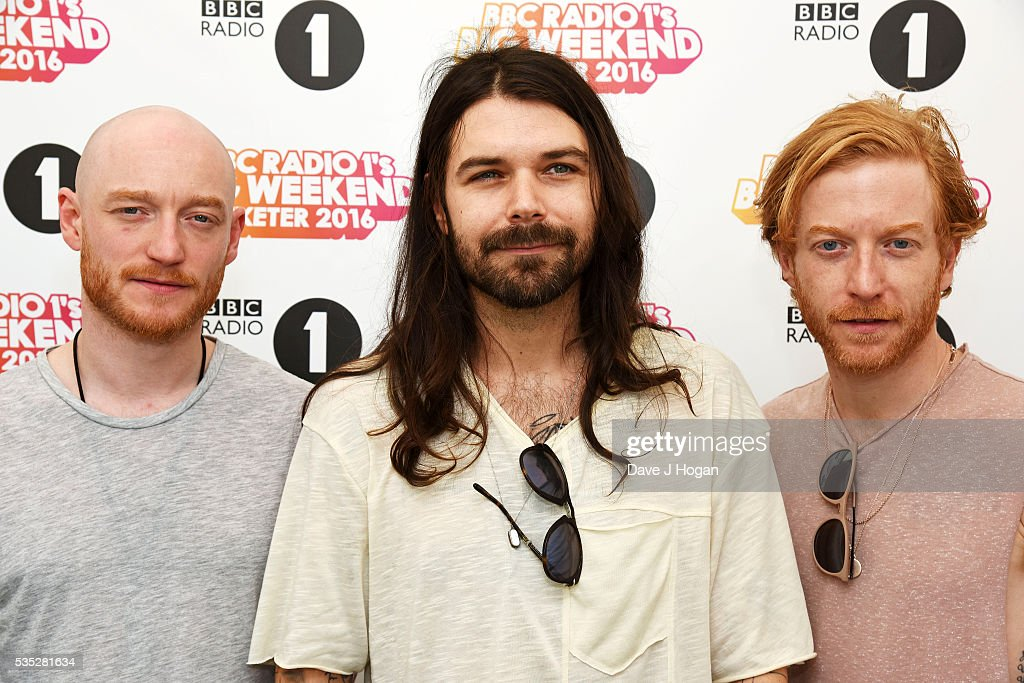 James Johnston of Biffy Clyro poses for a photo during day 2 of BBC Radio 1's Big Weekend at Powderham Castle on May 29, 2016 in Exeter, England.