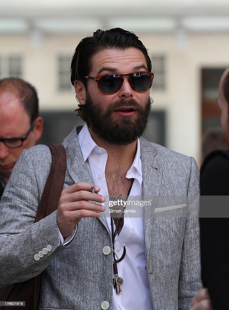 James Johnston of Biffy Clyro sighting at BBC radio one on August 19, 2013 in London, England.