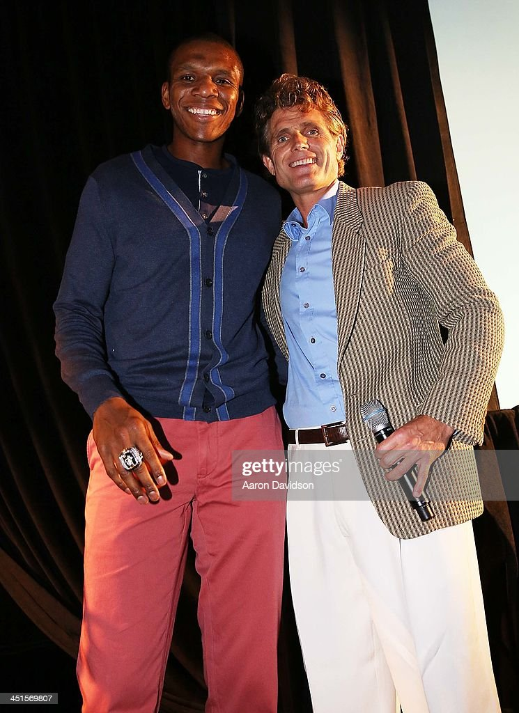 James Jones and <a gi-track='captionPersonalityLinkClicked' href=/galleries/search?phrase=Anthony+Shriver&family=editorial&specificpeople=727552 ng-click='$event.stopPropagation()'>Anthony Shriver</a> attends The Seventeenth Annual Best Buddies Miami Gala Auction at Fontainebleau Miami Beach on November 22, 2013 in Miami Beach, Florida.