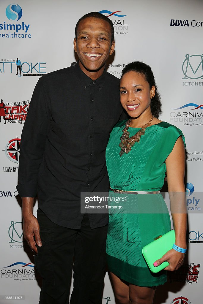 James Jones and Destiny Jones arrive at South Beach Battioke 2014 at Fillmore Miami Beach on January 27, 2014 in Miami Beach, Florida.