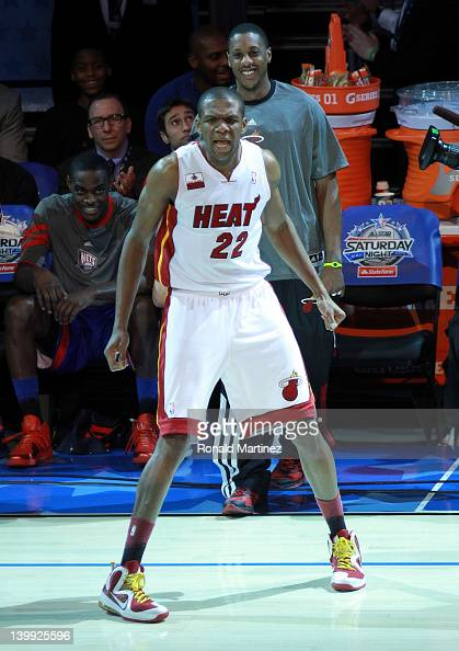 James Jones of the Miami Heat competes during the Foot Locker ThreePoint Contest part of 2012 NBA AllStar Weekend at Amway Center on February 25 2012...