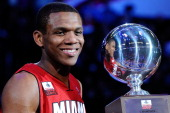James Jones of the Miami Heat wins the Foot Locker ThreePoint Contest apart of NBA AllStar Saturday Night at Staples Center on February 19 2011 in...