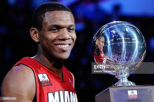 James Jones of the Miami Heat wins the Foot Locker ThreePoint Contest apart of NBA AllStar Saturday Night at Staples Center on February 19 2011 in...