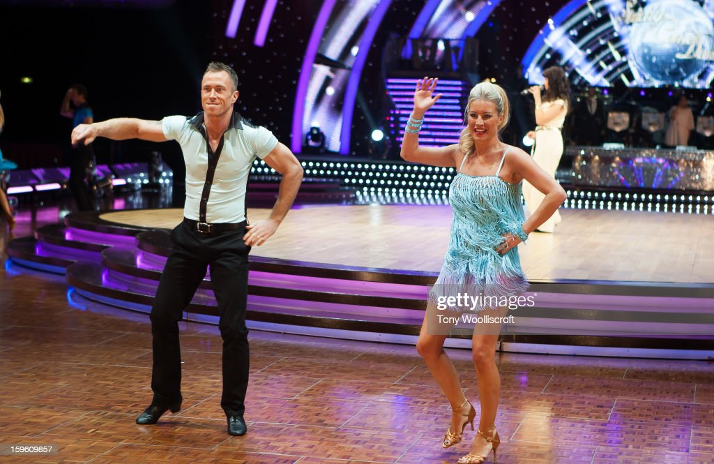 James Jordan and <a gi-track='captionPersonalityLinkClicked' href=/galleries/search?phrase=Denise+Van+Outen&family=editorial&specificpeople=202834 ng-click='$event.stopPropagation()'>Denise Van Outen</a> attends a photocall ahead of the Strictly Come Dancing Live Tour at NIA Arena on January 17, 2013 in Birmingham, England.
