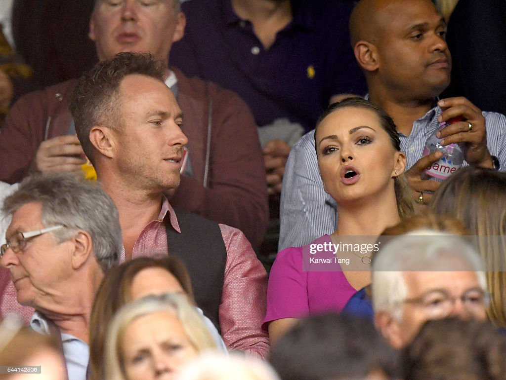 James Jordan and Ola Jordan attend day five of the Wimbledon Tennis Championships at Wimbledon on July 01, 2016 in London, England.