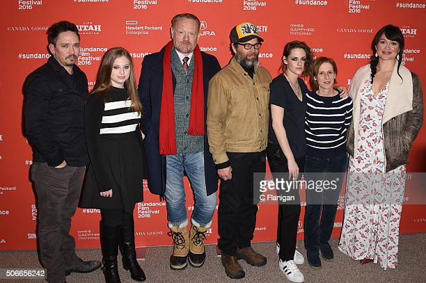 James Jordan Sara Rodier Jared Harris James Le Gros Kristen Stewart Kelly Reichardt and Lily Gladstone attend the 'Certain Women' Premiere during the...