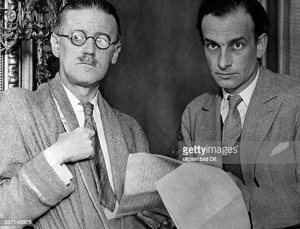 James Joyce Schriftsteller Irland mit Philipp Soupault Paris April 1931