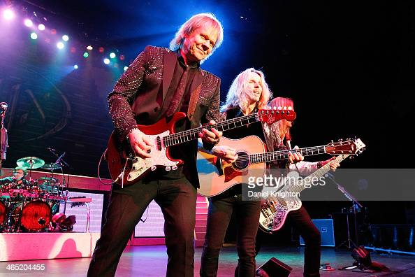 James 'JY' Young Tommy Shaw and Ricky Phillips perform with Styx at Pechanga Casino on January 25 2014 in Temecula California