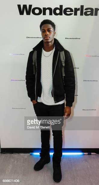 James Kakonge attends an exclusive preview of Ryan Barrett's new collection at Wonderland on March 22 2017 in London England