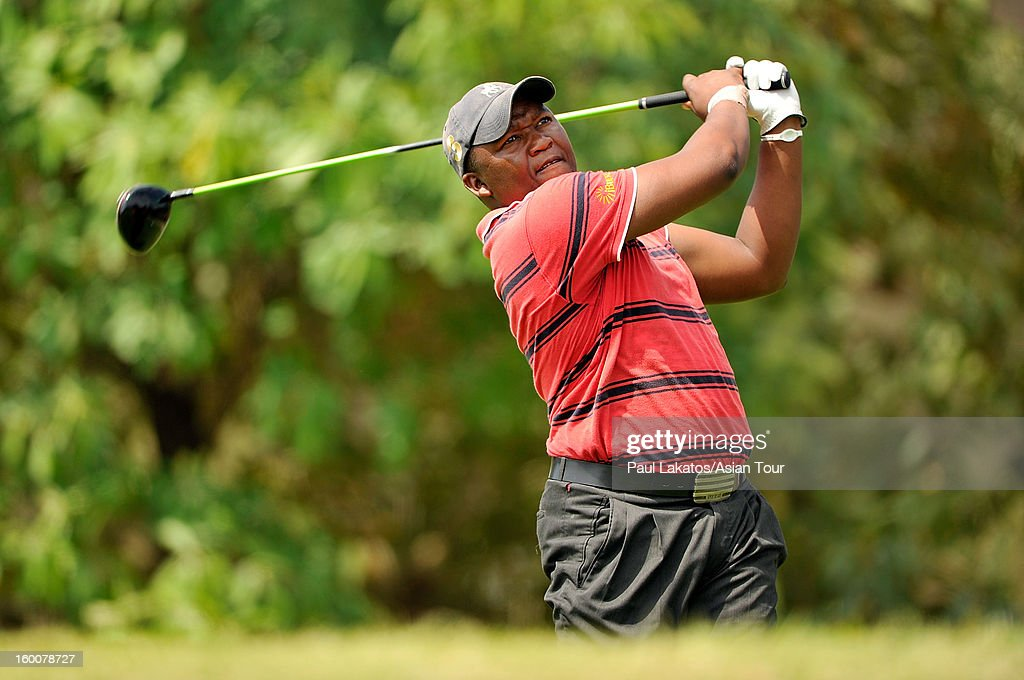 James Kamte of South Africa plays a shot during round four of the Asian Tour Qualifying School Final Stage at Springfield Royal Country Club on January 26, 2013 in Hua Hin, Thailand.