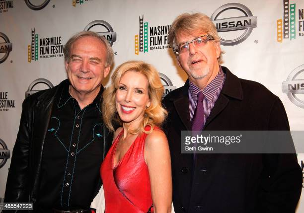 James Keach Kim Campbell and Trevor Albert attends day 2 of the 2014 Nashville Film Festival at Regal Green Hills on April 18 2014 in Nashville...